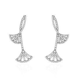 Boucles D'oreilles Pendantes Sarita Argent Blanc Oxyde De Zirconium - Boucles d'oreilles pendantes Femme   Histoire d'Or