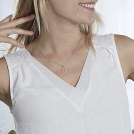 Collier Germinal Argent Blanc Oxyde De Zirconium - Colliers fantaisie Femme | Histoire d'Or