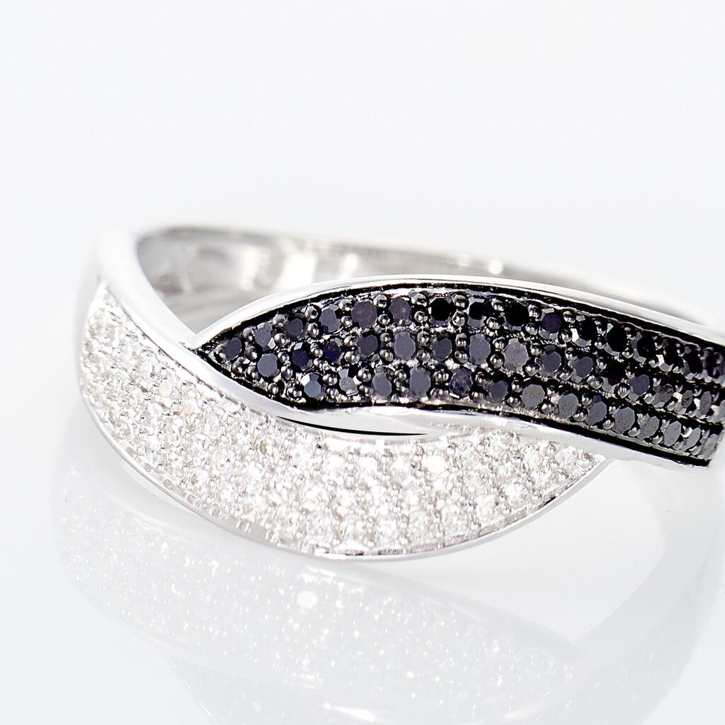 Bague Oia Or Blanc Diamant - Bagues avec pierre Femme   Histoire d'Or