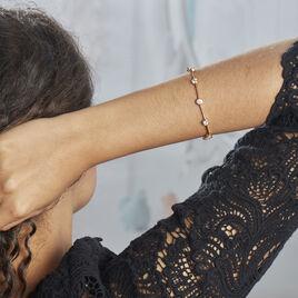 Bracelet Plaque Or Kaelig Oxydes De Zirconium - Bijoux Femme | Histoire d'Or
