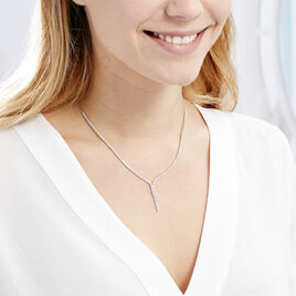 Collier Anthia Argent Blanc Oxyde De Zirconium - Bijoux Femme | Histoire d'Or