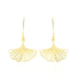 Boucles D'oreilles Pendantes Ayia Or Jaune - Boucles d'Oreilles Plume Femme   Histoire d'Or