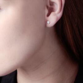 Boucles D'oreilles Or Et Strass - Clous d'oreilles Femme | Histoire d'Or