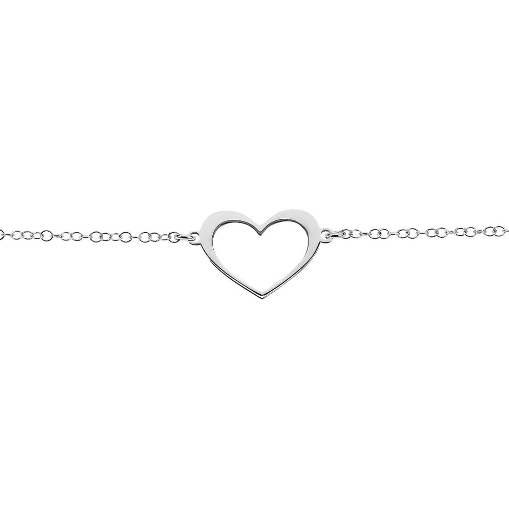 Bracelet Cosima Argent Blanc - Bracelets Coeur Femme | Histoire d'Or