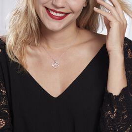 Collier Gasparde Argent Blanc Oxyde De Zirconium - Colliers Coeur Femme   Histoire d'Or