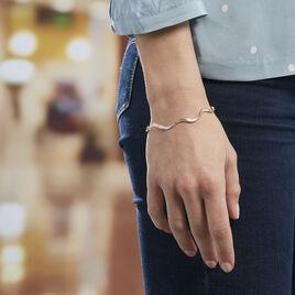 Bracelet Caralia Plaque Or Jaune Oxyde De Zirconium - Bijoux Femme   Histoire d'Or