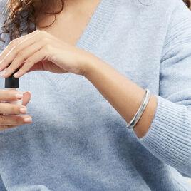 Bracelet Jonc Aissatou Acier Blanc - Bracelets fantaisie Femme   Histoire d'Or