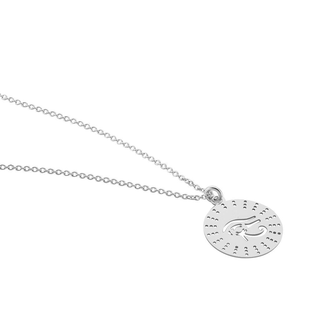 Collier Zenon Argent Blanc - Colliers fantaisie Femme | Histoire d'Or