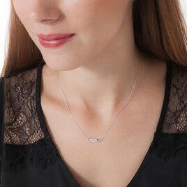 Collier Galya Or Blanc Diamant - Bijoux Femme   Histoire d'Or