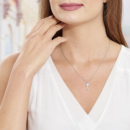 Collier Loona Argent Blanc - Colliers fantaisie Femme | Histoire d'Or