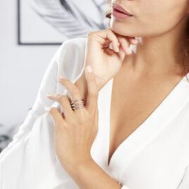 Bague Adeau Acier Blanc - Bagues fantaisie Femme | Histoire d'Or
