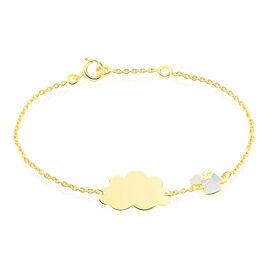 Bracelet Identite Bebe Or Jaune Nuage Alva - Bracelets Communion Enfant | Histoire d'Or