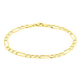 Bracelet Cameo Maille Alternee 1/3 Or Jaune - Bracelets chaîne Femme   Histoire d'Or
