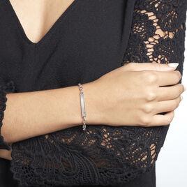 Bracelet Identité Carrus Argent Rhodié - Gourmettes Femme   Histoire d'Or