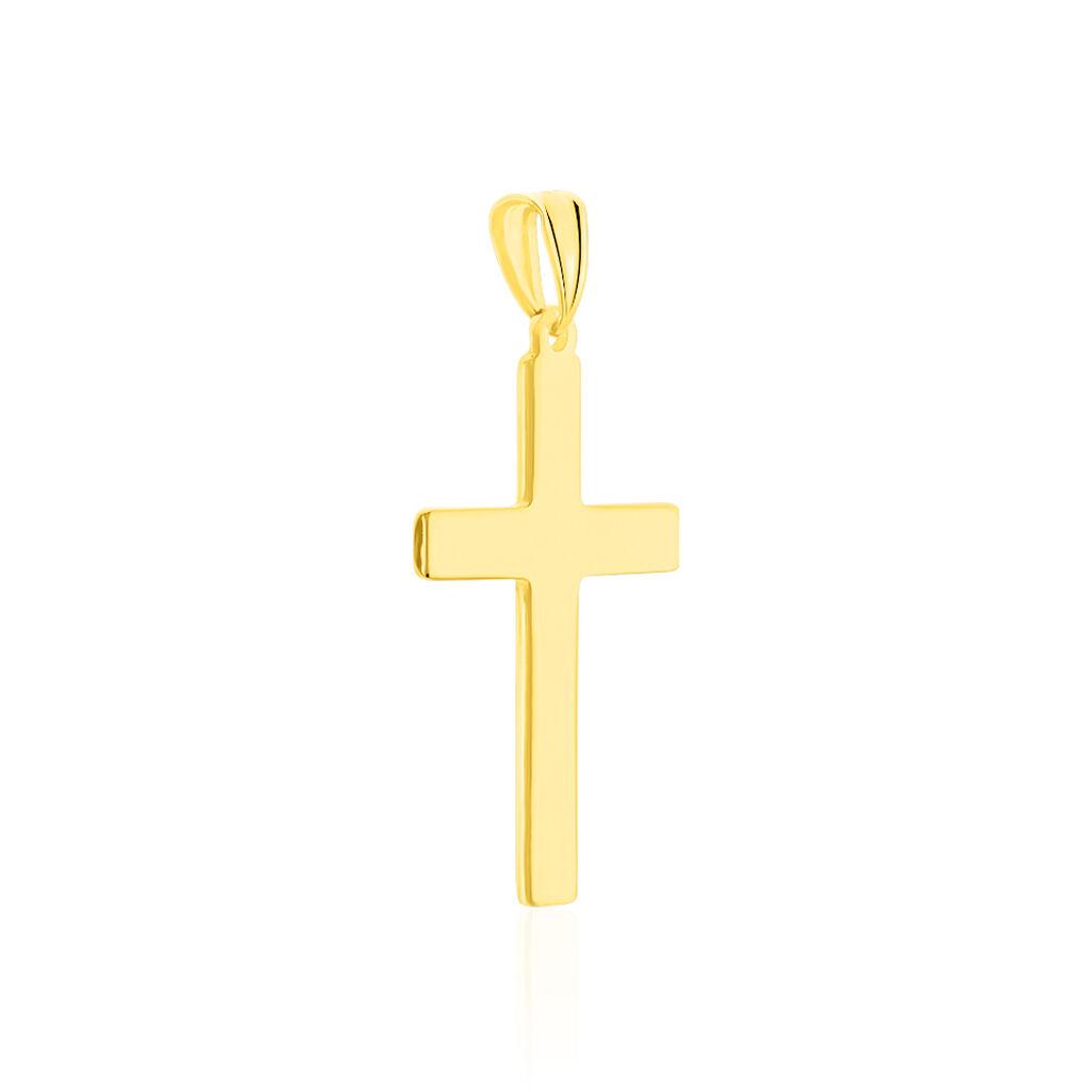 Pendentif Benny Croix Ciselee Or Bicolore - Pendentifs Croix Unisexe | Histoire d'Or