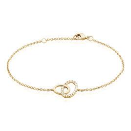Bracelet Kimberlie Plaque Or Jaune Oxyde De Zirconium - Bracelets fantaisie Femme | Histoire d'Or
