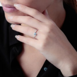 Bague Vrille Accompagnee Or Blanc Diamant - Bagues solitaires Femme | Histoire d'Or
