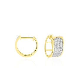 Créoles Marita Rondes Or Jaune Oxyde De Zirconium - Boucles d'oreilles créoles Femme | Histoire d'Or