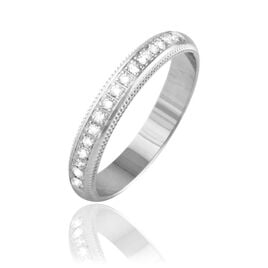 Alliance Tsivia Or Blanc Diamant - Alliances Femme   Histoire d'Or