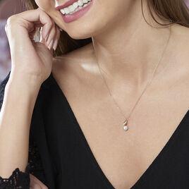 Collier Leta Or Jaune Perle De Culture Et Oxyde De Zirconium - Bijoux Femme   Histoire d'Or