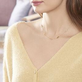Collier Edinna Or Jaune - Colliers Plume Femme   Histoire d'Or