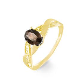 Bague Candice Or Jaune Quartz - Bagues avec pierre Femme   Histoire d'Or