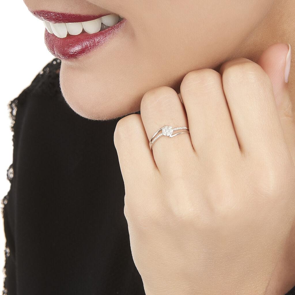 Bague Solitaire Atalante Or Blanc Diamant - Bagues solitaires Femme   Histoire d'Or