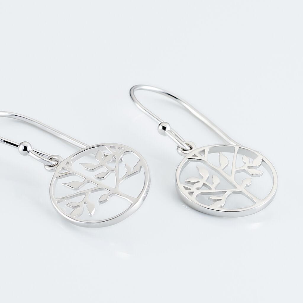 Boucles D'oreilles Pendantes Mely Argent Blanc - Boucles d'oreilles fantaisie Femme   Histoire d'Or