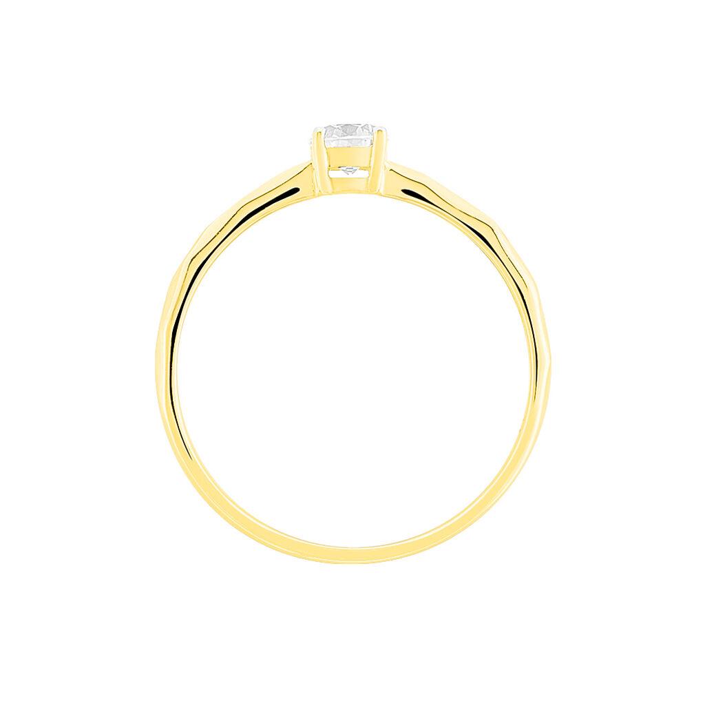 Bague Solitaire Maylis Or Jaune Oxyde De Zirconium - Bagues avec pierre Femme   Histoire d'Or
