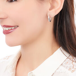 Créoles Argent Oxyde - Boucles d'oreilles créoles Femme | Histoire d'Or