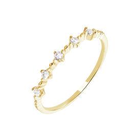 Bague Maximilienne Or Jaune Oxyde De Zirconium - Bagues avec pierre Femme | Histoire d'Or