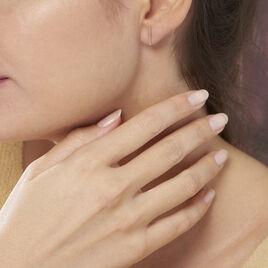 Boucles D'oreilles Puces Pink Or Rose - Clous d'oreilles Femme | Histoire d'Or