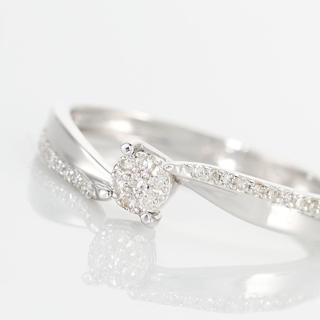Bague Or Blanc Callysta Diamants - Bagues avec pierre Femme | Histoire d'Or