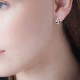 Boucles D'oreilles Puces Goccie Or Jaune Diamant - Clous d'oreilles Femme | Histoire d'Or