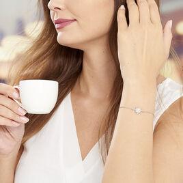 Bracelet Blanca Argent Blanc Perle De Culture - Bijoux Etoile Femme   Histoire d'Or