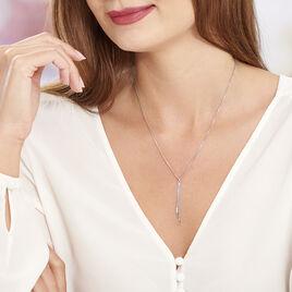 Collier Ginevra Argent Blanc - Colliers fantaisie Femme | Histoire d'Or
