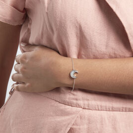 Bracelet Argent Rhodié Segeta Oxydes De Zirconium - Bracelets Lune Femme | Histoire d'Or