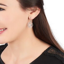 Boucles D'oreilles Pendantes Laetiti Argent Blanc - Boucles d'oreilles fantaisie Femme | Histoire d'Or