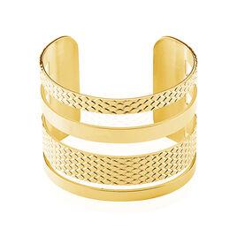 Bracelet Jonc Abram Acier Jaune - Bracelets fantaisie Femme | Histoire d'Or