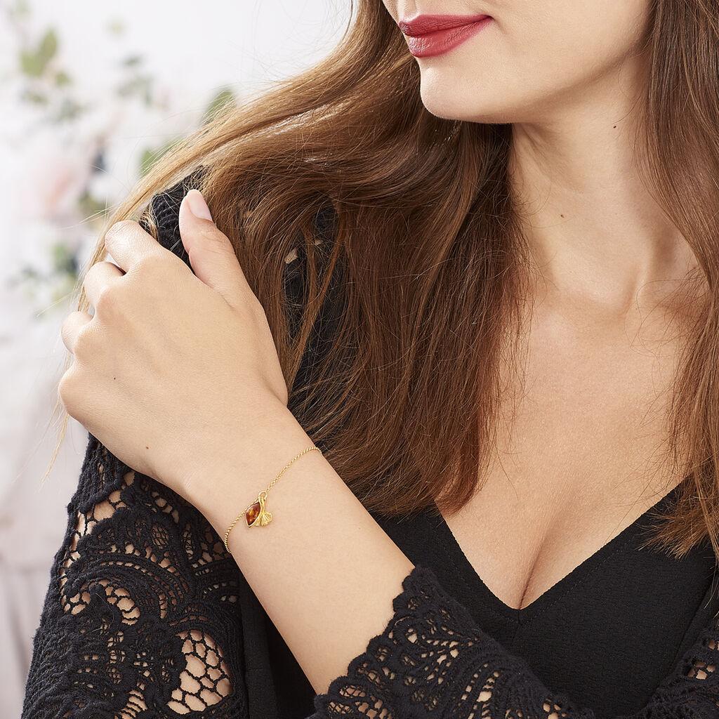 Bracelet Adriaa Argent Jaune Ambre - Bracelets fantaisie Femme   Histoire d'Or