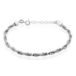 Bracelet Ciana Torsade Diamante Argent Blanc - Bracelets fantaisie Femme   Histoire d'Or