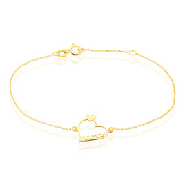 Bracelet Thya Or Jaune - Bracelets Coeur Femme | Histoire d'Or