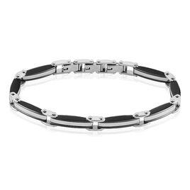 Bracelet Kevin Acier Blanc Oxyde De Zirconium - Bracelets fantaisie Homme | Histoire d'Or