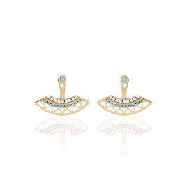 Bijoux D'oreilles Zoila Plaque Or Jaune Oxyde De Zirconium - Boucles d'oreilles fantaisie Femme | Histoire d'Or