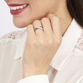 Bague Vahide Or Blanc Diamant - Bagues avec pierre Femme | Histoire d'Or