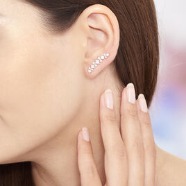 Boucles D'oreilles Pendantes Sarida Argent Blanc Oxyde De Zirconium - Boucles d'oreilles fantaisie Femme | Histoire d'Or