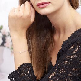 Bracelet Paesie Argent Blanc Oxyde De Zirconium - Bracelets fantaisie Femme   Histoire d'Or