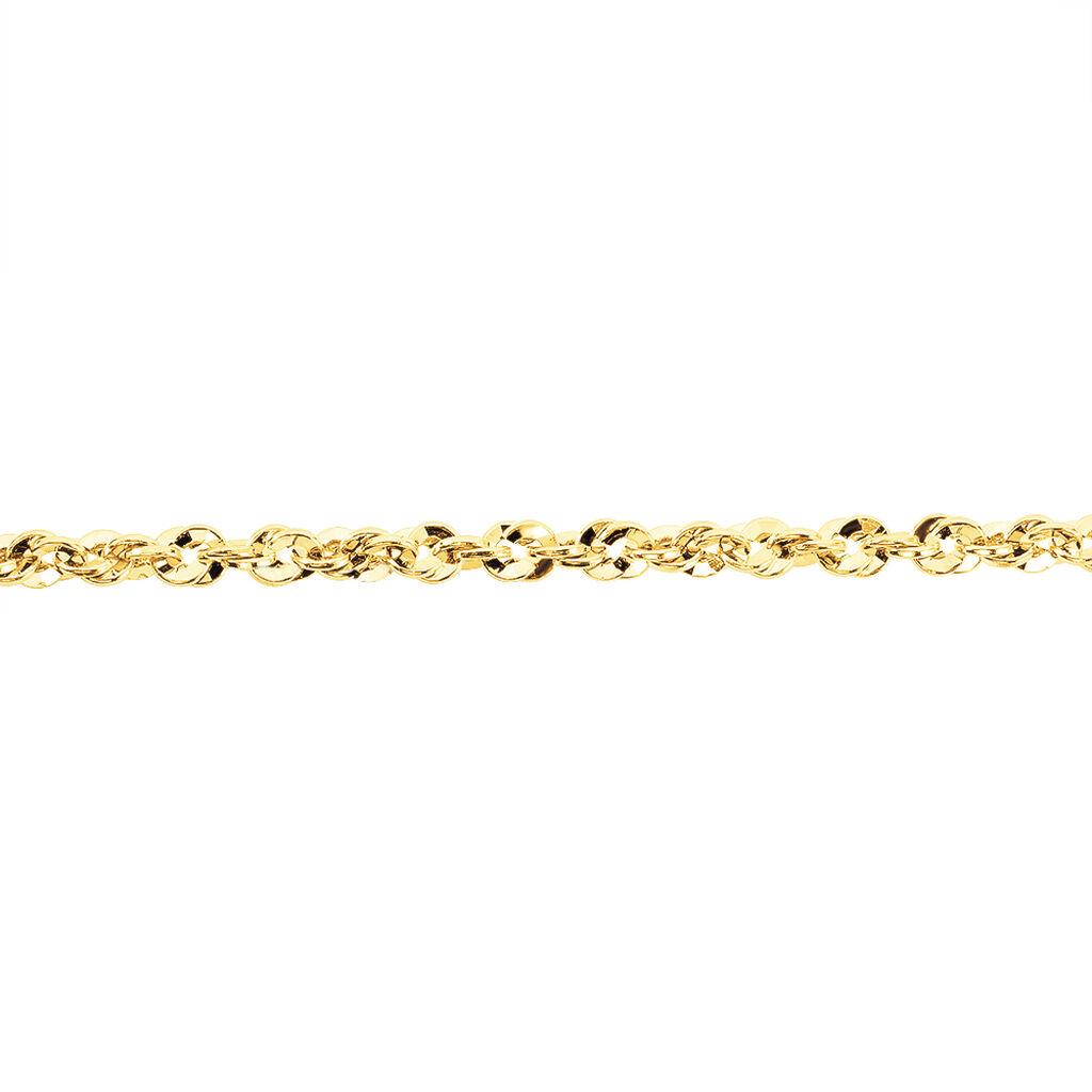 Bracelet Jerry Maille Corde Facettee Or Jaune - Bracelets chaîne Femme   Histoire d'Or