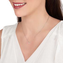 Collier Teani Or Blanc Diamant - Bijoux Femme | Histoire d'Or