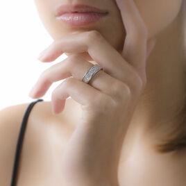 Bague Setti Or Blanc Diamant - Bagues avec pierre Femme | Histoire d'Or